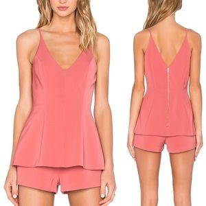 Keepsake No Secrets V-neck Romper in Spice